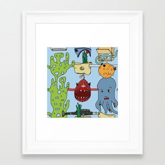 Deep under the sea Framed Art Print