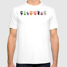 Teacups Border SMALL Mens Fitted Tee White