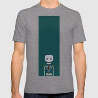 The athlete Mens Fitted Tee Tri-Grey SMALL