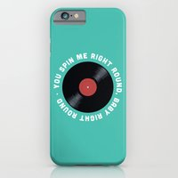 iPhone & iPod Case featuring You Spin Me Right Round, Baby Right Round by Zeke Tucker