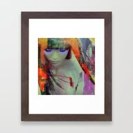 Touch Right In The Heart… Framed Art Print