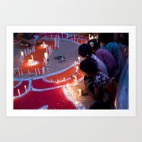 Protest By Candelight Art Print