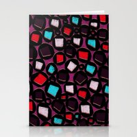 Circles and Squares - hand drawn and digital pattern Stationery Cards