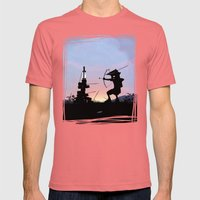 Green Arrow Kid Mens Fitted Tee Pomegranate SMALL