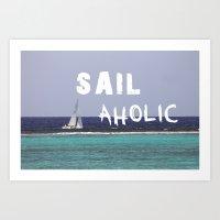 SAILaholic Art Print