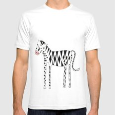 Long legs Zebra Mens Fitted Tee White SMALL