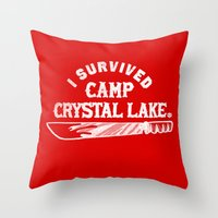 i survived friday the 13th Throw Pillow