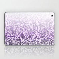 Gradient purple and white swirls doodles Laptop & iPad Skin
