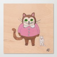 Two Kitties Canvas Print