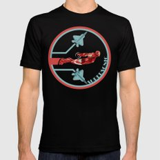 iron man and F22 raptor  SMALL Mens Fitted Tee Black