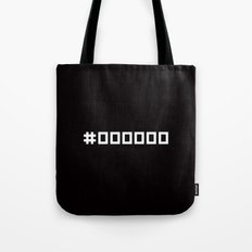 #000000 - Minimal Rgb Black Addiction Tote Bag