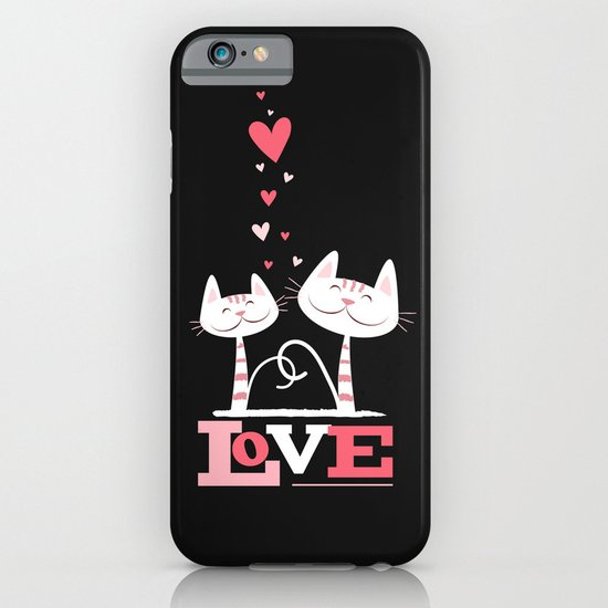2 Cats in Love iPhone & iPod Case