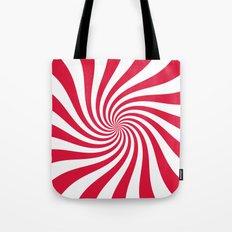 Swirl (Crimson/White) Tote Bag