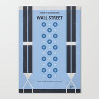 No683 My Wall street minimal movie poster Canvas Print