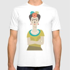 Frida White SMALL Mens Fitted Tee