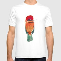Birds Mens Fitted Tee SMALL White