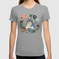 My Neighbor Troll   Womens Fitted Tee Tri-Grey SMALL