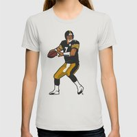 Big Ben - Steelers QB Womens Fitted Tee Silver SMALL