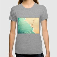 Beach Womens Fitted Tee Tri-Grey SMALL