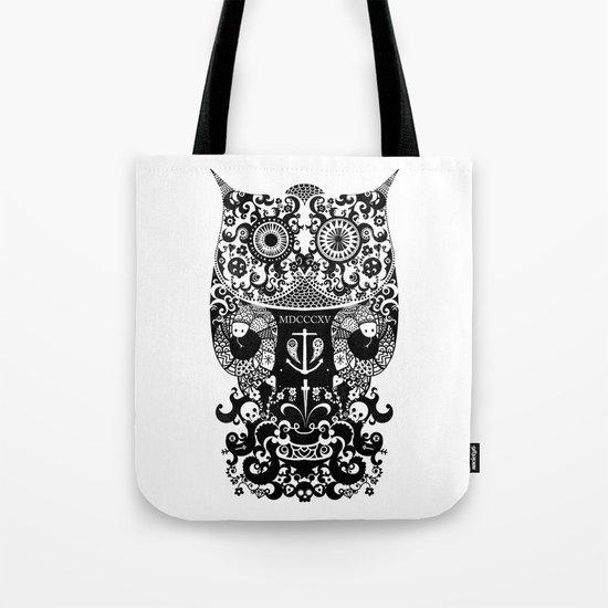 The Old Owl  - Black Tote Bag