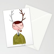 One real antler, one imagined Stationery Cards