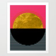 Art Print featuring Abstract Sunset by Georgiana Paraschiv