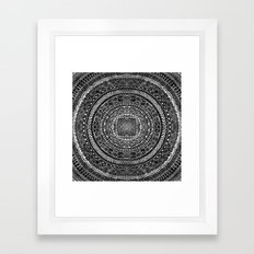 Zentangle Mandala Black … Framed Art Print