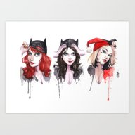 Unmasked Gotham Girls Art Print