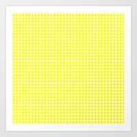 YELLOW DOT Art Print