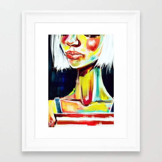 """Glowing 7"" Framed Art Print"