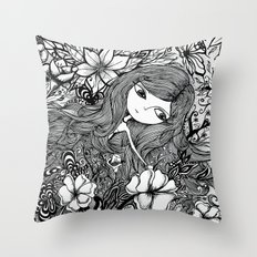 Mad Girl Garden Throw Pillow