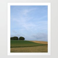Rural Farmland Landscape Art Print