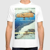 Cross The Line Mens Fitted Tee White SMALL