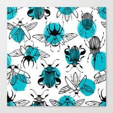 Flying beetles Canvas Print