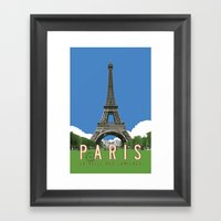 Paris Travel Poster - Vi… Framed Art Print