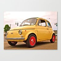 Canvas Print featuring Classic Fiat 500 by Vorona Photography
