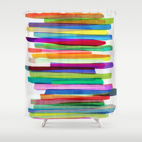 Colorful Stripes 1 Shower Curtain