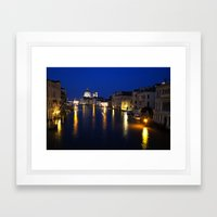 Grand Canal by Night Framed Art Print