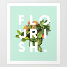Flourish #society6 #buya… Art Print