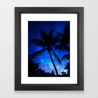 Cosmic Palms Framed Art Print