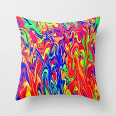 Neon Distraction Throw Pillow