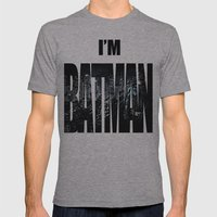 The Dark Knight Mens Fitted Tee Athletic Grey SMALL