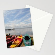 Bay Landscape with Canoe  Stationery Cards