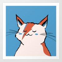 A Cat Insane Art Print