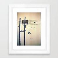 Let there be light... Framed Art Print