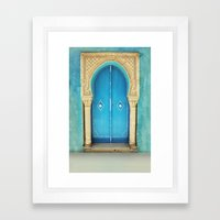 Morocco Door Framed Art Print