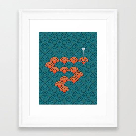 The Last Sea Monster Framed Art Print