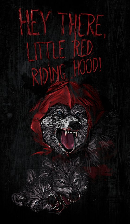 Hey there little red riding hood! Art Print