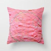 Smile On A Pink Toilet P… Throw Pillow