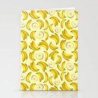 Banana Fruity Pattern  Stationery Cards